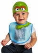 Infant Sesame Street Oscar the Grouch Bib & Hat