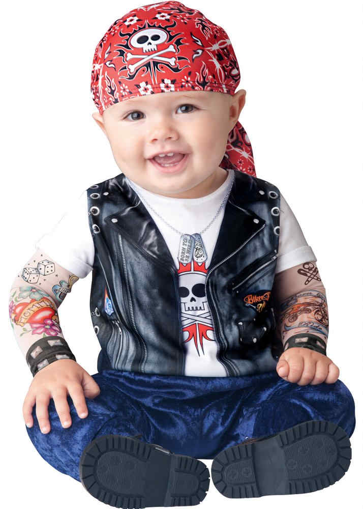 0376ffb4cf10 Infant Toddler Born to Be Wild Biker Costume - Candy Apple ...