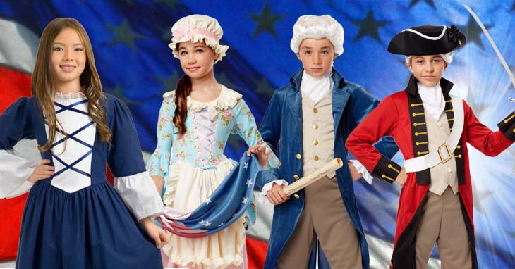 Kids' Colonial Costumes