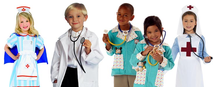 Kids' Doctor and Nurse Costumes