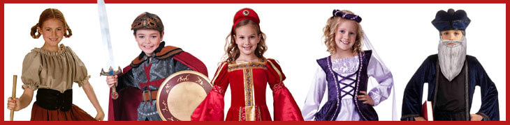 Kids' Renaissance and Medieval Halloween Costumes