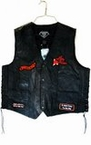 Leather Lady Biker Vest with Patches - Adult and Plus Size