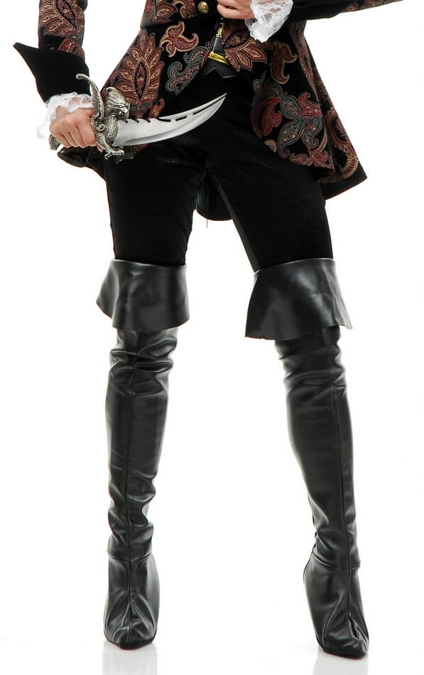 pleather thigh high pirate boot covers apple