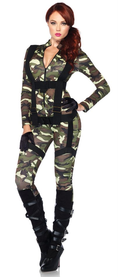 Leg Avenue Pretty Paratrooper Sexy Soldier Costume - Candy Apple ...