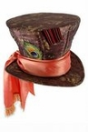 Licensed Alice in Wonderland Deluxe Mad Hatter Top Hat