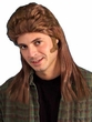 Light Brown 80's Mullet Wig