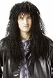 Long Black 80's Headbanger Wig