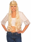 Long Blonde Hippie Wig