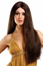 Economy Long Brown Center Part Wig