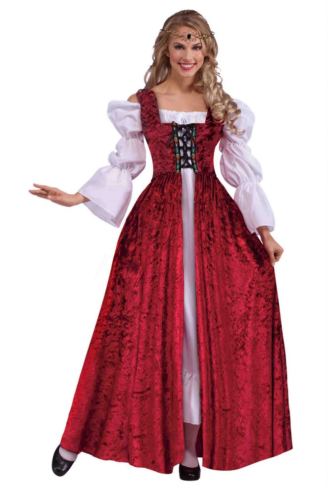 0a45834025f Medieval Lace-up Gown Costume - Adult and Plus Size - Candy Apple ...