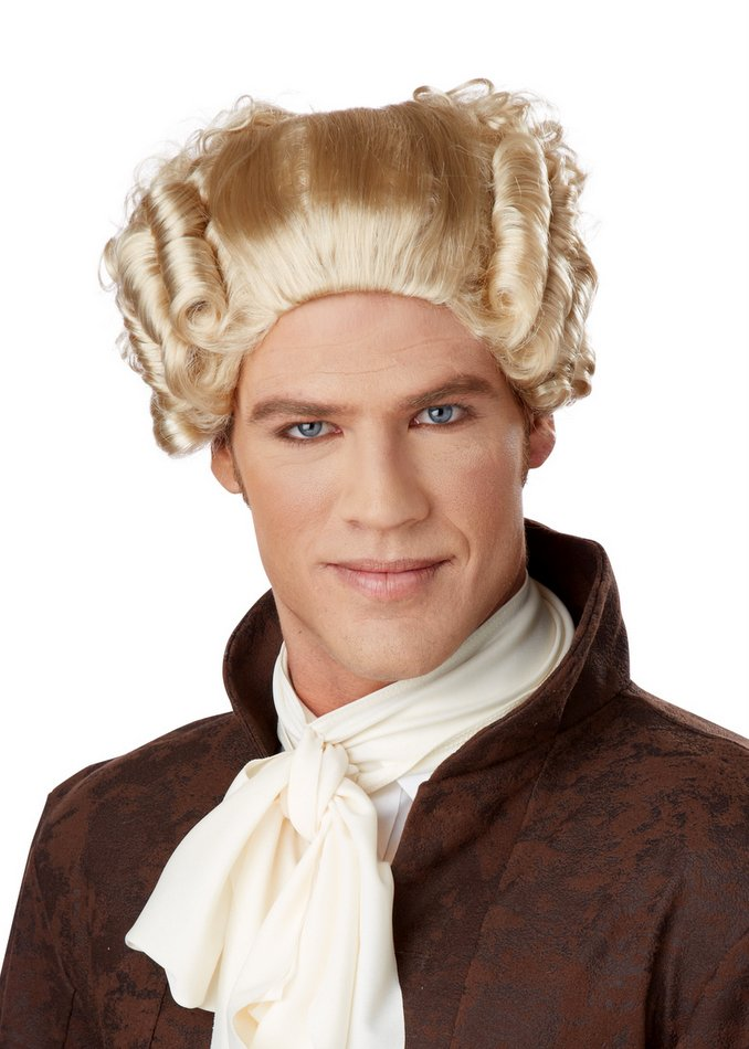 Men S 18th Century Blond Peruke Wig Candy Apple Costumes