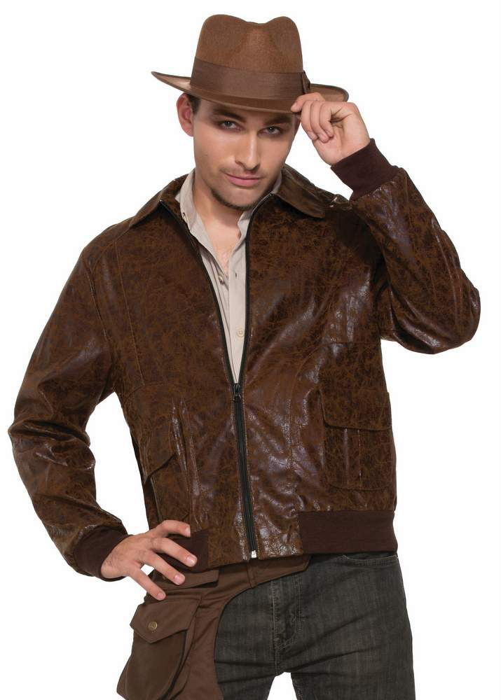 Men's 1940's Brown Bomber Jacket - Candy Apple Costumes - Aviator ...