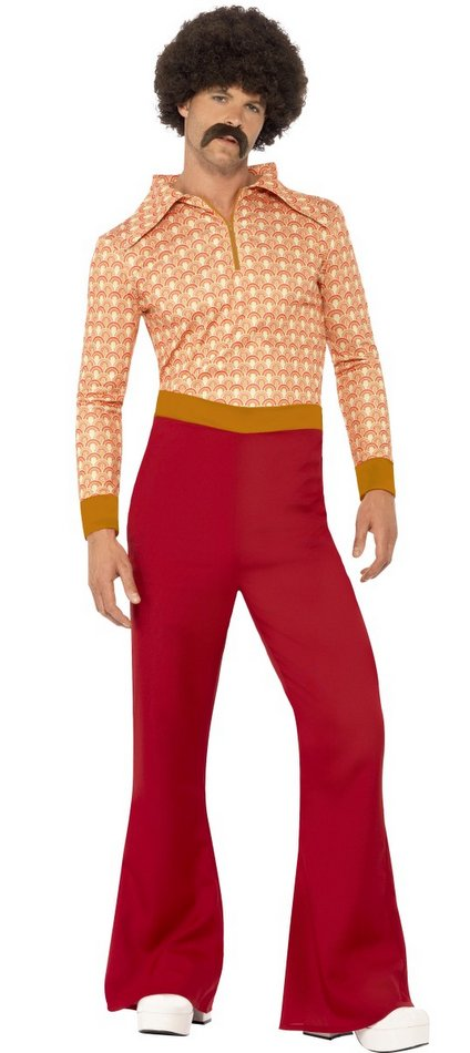 Men's 70's Guy Shirt and Bell Bottoms Costume - Retro Costumes ...