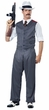 Men's Black Pinstriped Mobster Costume