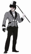 Men's Black/White Harlequin Tailcoat Costume