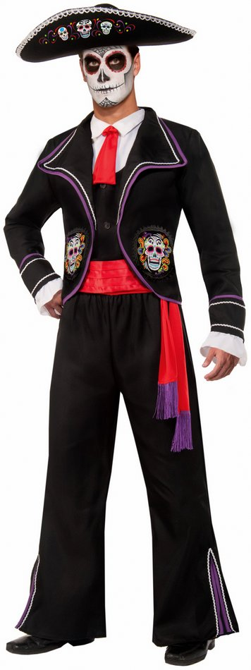 Menu0027s Day of The Dead Mariachi Macabre Costume  sc 1 st  Candy Apple Costumes : mariachi costume  - Germanpascual.Com