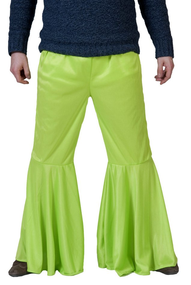 Men's Lime Green Hippie Bell Bottom Pants - Candy Apple Costumes ...