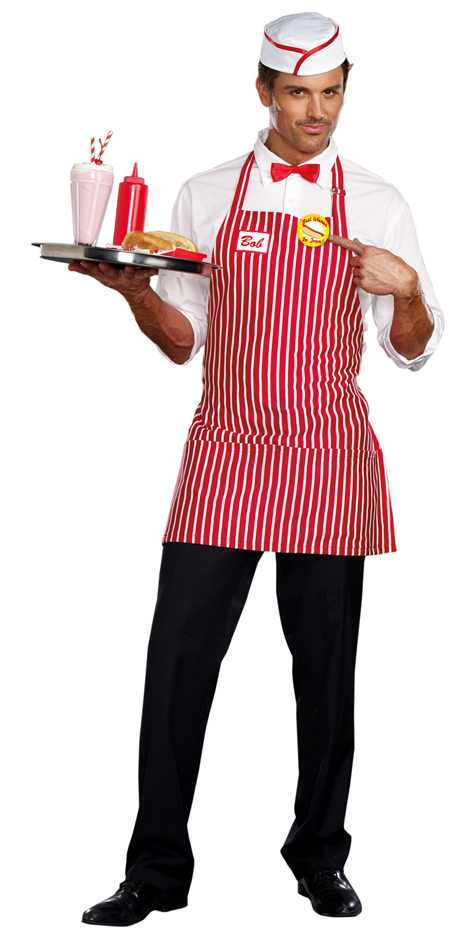 Menu0026#39;s Diner Dude Costume - Retro 50u0026#39;s Costumes - New Costumes for Halloween 2015