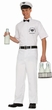 Men's Retro Milkman Costume - Standard and Plus Size