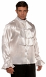Men's Plus White Ruffled Gothic Shirt