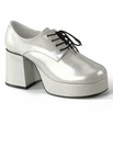 "Men's 3"" Heel Platform Champagne Pearlized Disco Shoes"