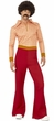 Men's 70's Guy Shirt and Bell Bottoms Costume