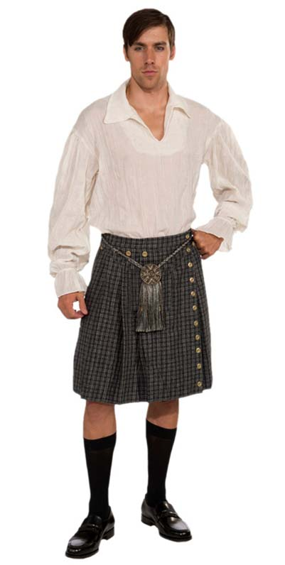 Highlander For Sale >> Men's Scottish Highlander Kilt and Shirt Costume - Outlander Costumes - Colonial Costumes