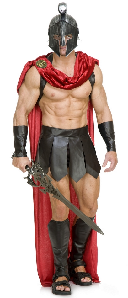 Menu0027s Spartan Warrior Costume  sc 1 st  Candy Apple Costumes : mens spartan costume  - Germanpascual.Com