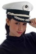 Deluxe Adult White Naval Officer's Hat