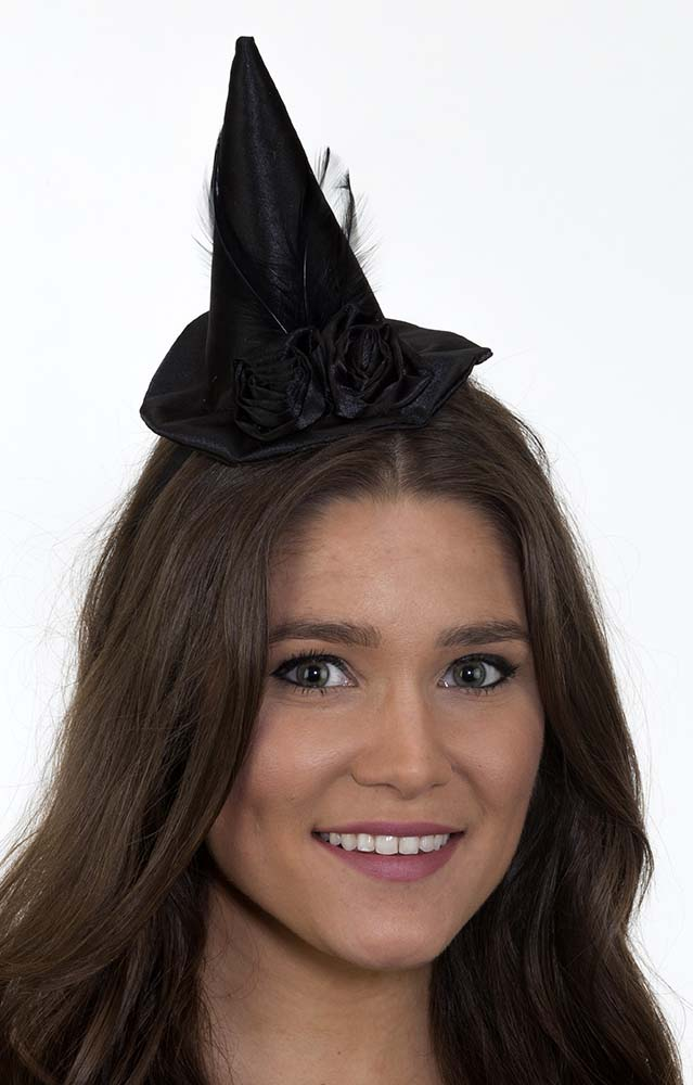 Mini Witch Hat with Black Roses  sc 1 st  Candy Apple Costumes & Mini Witch Hat with Black Roses - Candy Apple Costumes - New 2017 ...