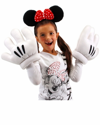 Minnie Mouse Ears and Cartoon Gloves Set