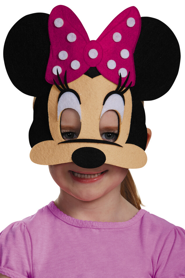 Minnie Mouse Felt Mask  sc 1 st  Candy Apple Costumes & Minnie Mouse Felt Mask - Candy Apple Costumes - Cartoon Characters