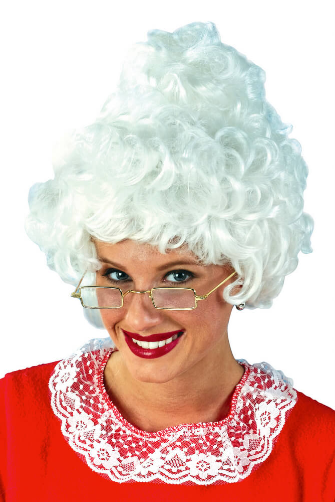 Mrs Claus White Wig Candy Apple Costumes Christmas