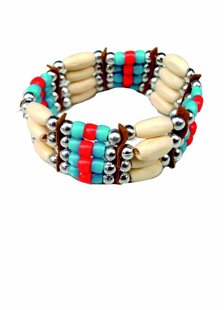 Native American Beaded Bracelet Candy Apple Costumes Wild West