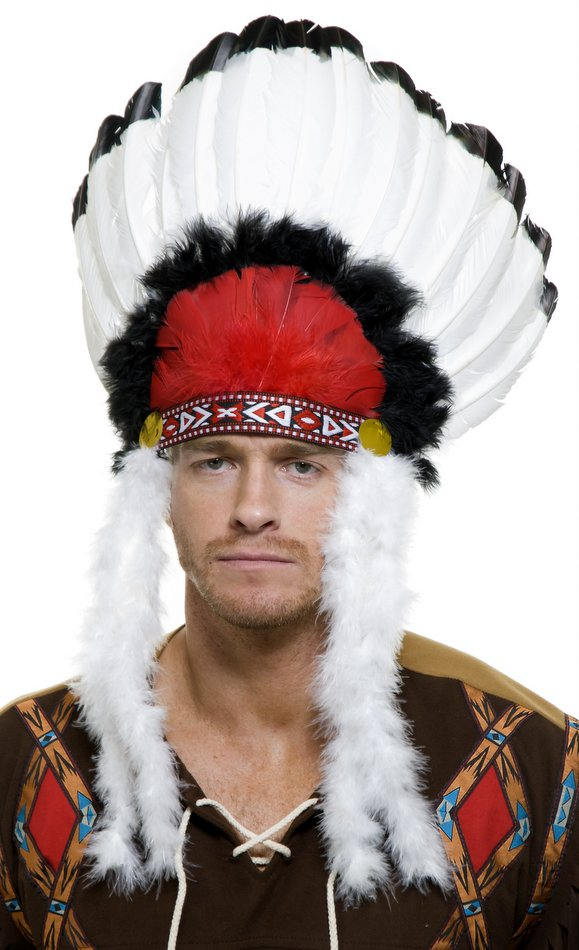 Native American Chief Feather Headdress Candy Apple