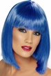 Neon Blue Glam Short Wig