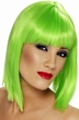 Neon Green Glam Short Wig