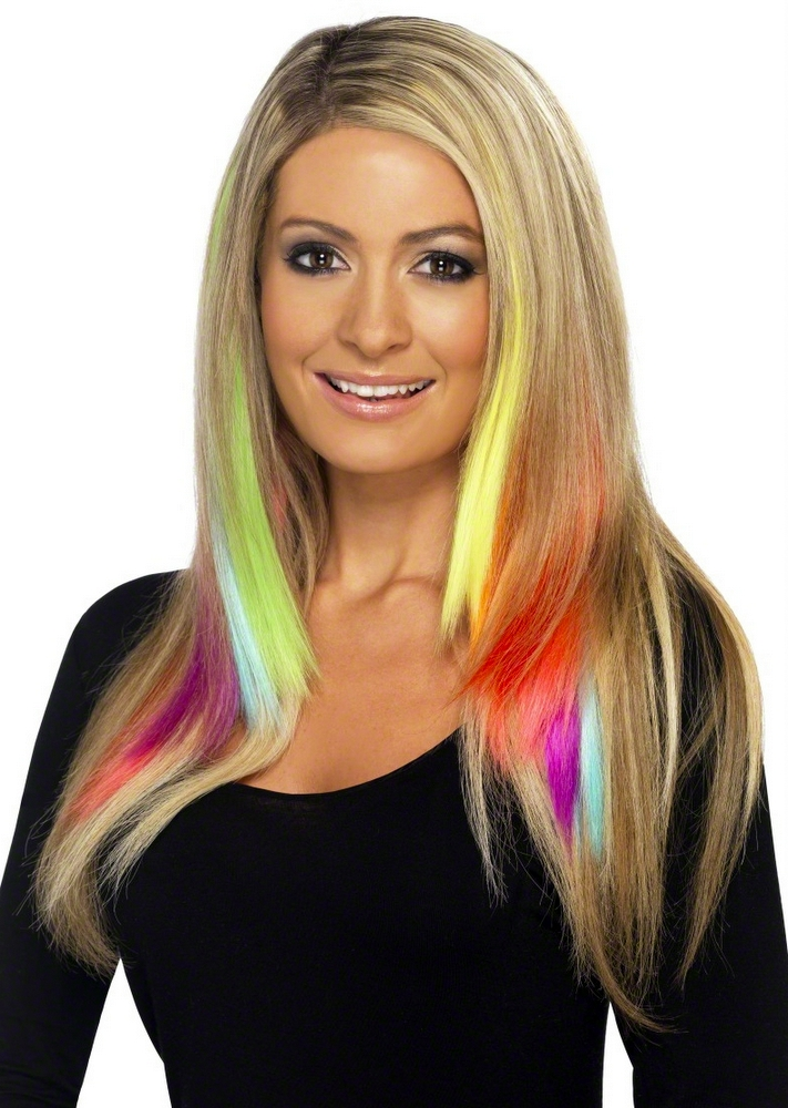 Girls Hair Extensions Candy Pink Roblox Neon Hair Extensions 2 Pack Candy Apple Costumes