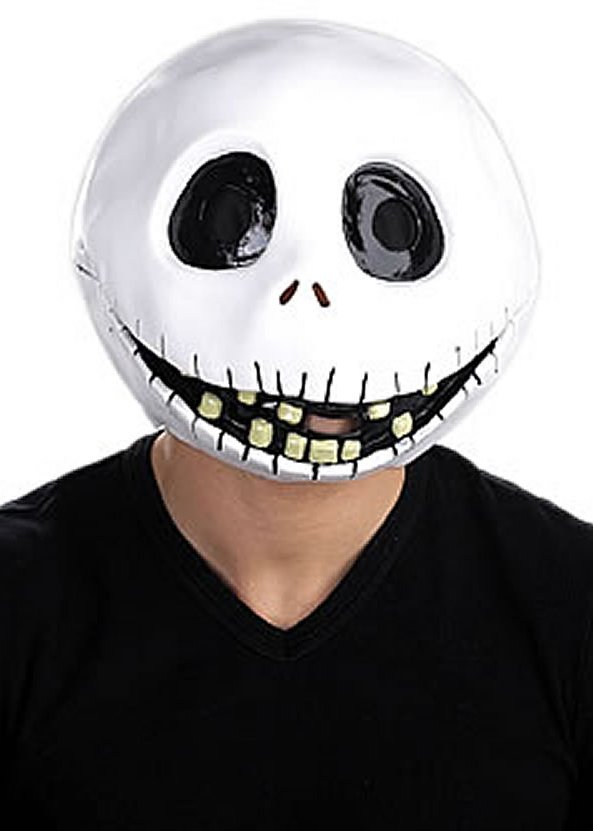 Nightmare Before Christmas Jack Skellington Latex Mask