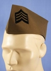 Olive Green Military Style Envelope Hat