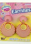 Orange Swirl Mod Earrings
