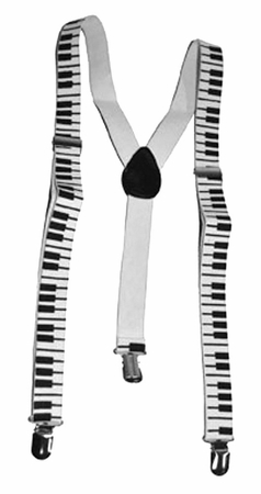 Piano Key Suspenders