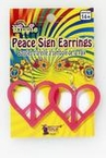 Pink Heart Peace Sign Earrings