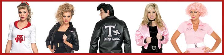 Pink Ladies and T-Birds Costumes