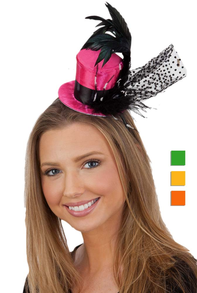 Bright Color Mini Top Hat Headband - Candy Apple Costumes - Victorian  Costumes f52acdf65f4