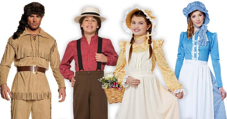 Pioneer Costumes For Adults And Kids Candy Apple