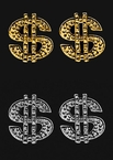Players Club Dollar Sign Earrings - Gold or Silver