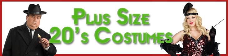 Plus Size 1920s Costumes Flappers Gangsters