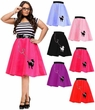Plus Size 50's Felt Poodle Skirt - More Colors