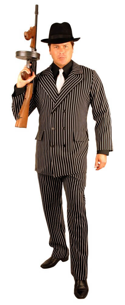 614c0289ec0 Plus Size 6-Button Pinstriped Gangster Suit Costume - Candy Apple ...